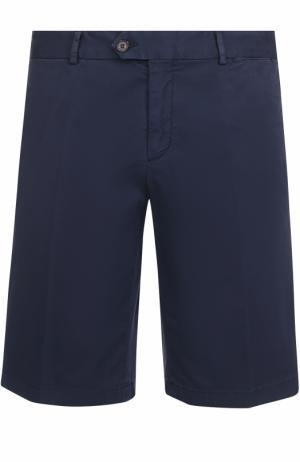 Хлопковые шорты с карманами Paul&Shark. Цвет: темно-синий