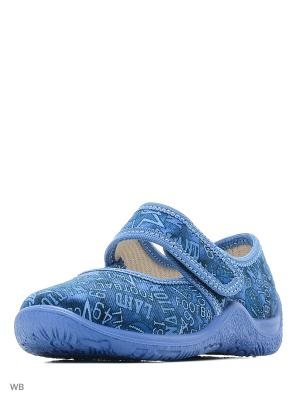 Туфли Kapika. Цвет: голубой