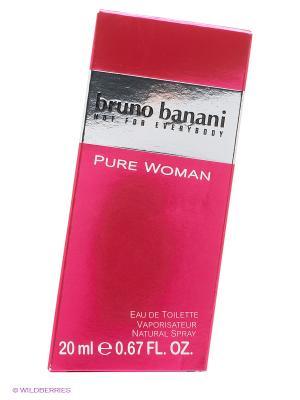 Вода туалетная Pure Woman, 20 мл. Bruno Banani. Цвет: малиновый
