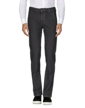 Повседневные брюки BARBA Napoli. Цвет: стальной серый