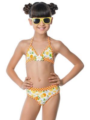 Купальник для девочек Arina. Цвет: оранжевый