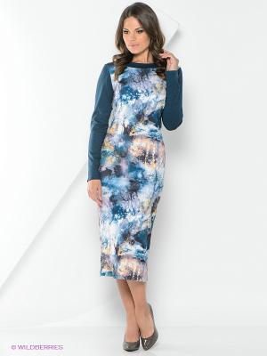 Платье La Fleuriss. Цвет: темно-зеленый