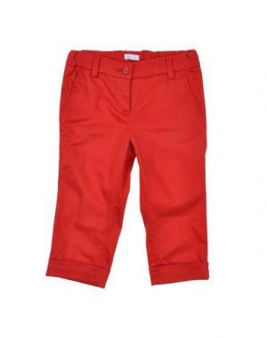 Повседневные брюки MICROBE. Цвет: красный