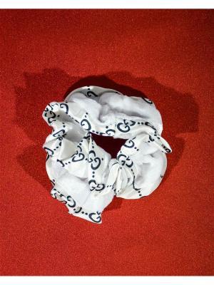 Резинка для волос Bizon. Цвет: белый