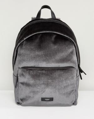 Knomo Серый бархатный рюкзак Paddington Bathurst. Цвет: серый