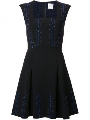 Платье с вышивкой Ingie Paris. Цвет: чёрный
