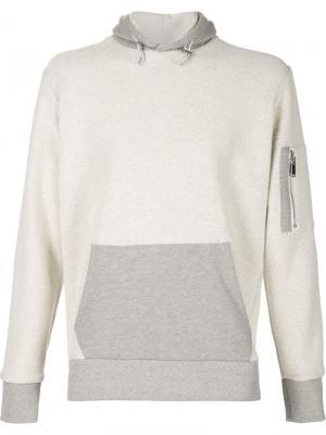 Толстовка с капюшоном Ovadia & Sons. Цвет: серый