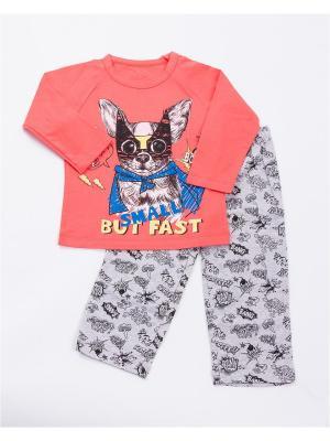 Пижама: лонгслив, брюки Mark Formelle. Цвет: серый меланж, оранжевый
