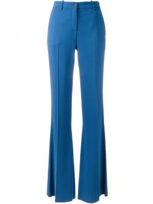 Расклешенные брюки Roberto Cavalli. Цвет: синий