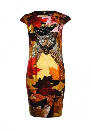 Платье Just Cavalli. Цвет: разноцветный