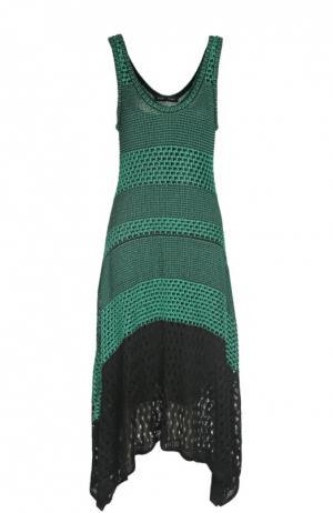 Платье вязаное Proenza Schouler. Цвет: зеленый