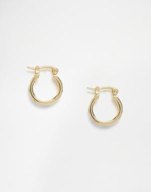 House of Harlow Серьги-кольца с эмалированной отделкой. Цвет: золотой