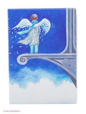 Обложка для автодокументов Ангел в небесах Mitya Veselkov. Цвет: сиреневый