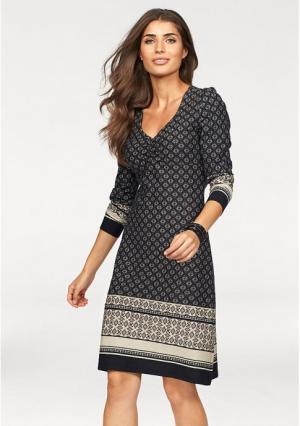 Платье BOYSENS BOYSEN'S. Цвет: бежевый/черный