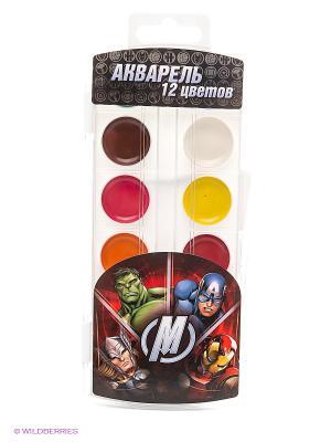 Акварель Мстители Marvel. Цвет: белый, черный