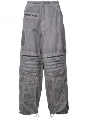 Широкие джинсы G-Star Raw Research. Цвет: серый