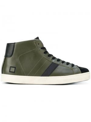 Хайтопы  со шнуровкой D.A.T.E.. Цвет: зелёный