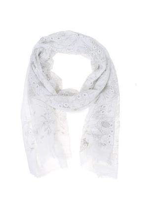 Палантин Migura. Цвет: белый, серый