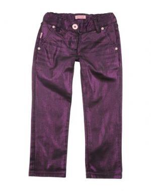 Джинсовые брюки ROBERTO CAVALLI ANGELS. Цвет: фиолетовый
