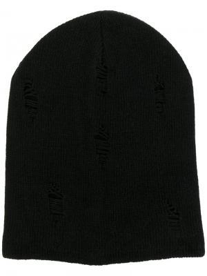 Классическая шапка Dondup. Цвет: чёрный