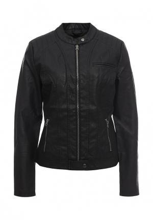 Куртка кожаная BlendShe. Цвет: черный