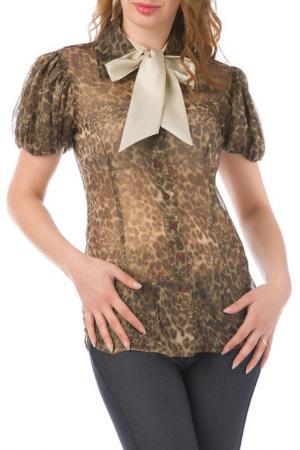 Блуза JOELLE JO'ELLE. Цвет: коричневый