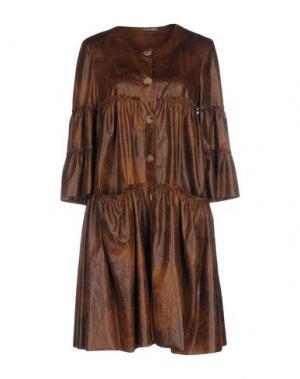 Короткое платье DIXIE. Цвет: темно-коричневый