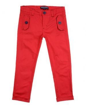 Повседневные брюки NORTH POLE. Цвет: красный