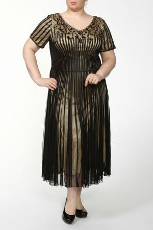 Платье Lia Mara. Цвет: черный, бежевый