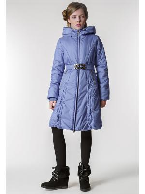 Пальто D`imma. Цвет: голубой