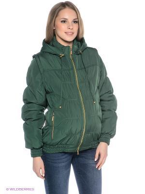 Куртка EUROMAMA. Цвет: темно-зеленый