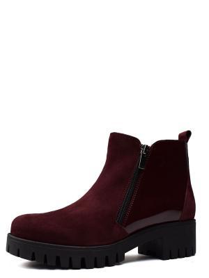 Ботинки BERG. Цвет: бордовый