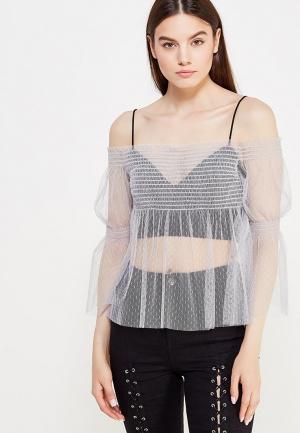 Блуза Topshop. Цвет: серый