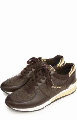 Комбинированные кроссовки с логотипом бренда MICHAEL Kors. Цвет: коричневый