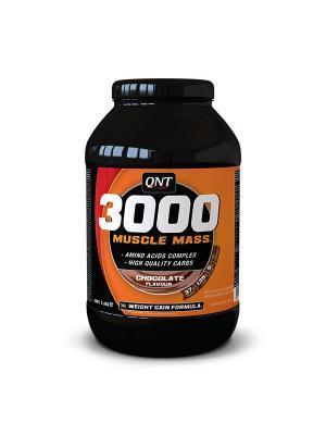 Гейнер QNT Muscle Mass 3000  (шоколад), 1,3кг. Цвет: черный