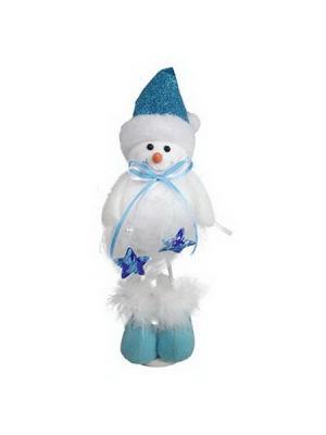 Мягкий сувенир 24см, полиэстер, Морозный, 3 дизайна СНОУБУМ. Цвет: синий