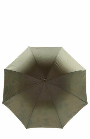 Зонт-трость с цветочным принтом Pasotti Ombrelli. Цвет: темно-зеленый
