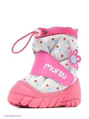 Дутики Mursu. Цвет: розовый, серый