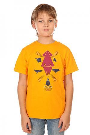 Футболка детская  Animal Orange Picture Organic. Цвет: оранжевый