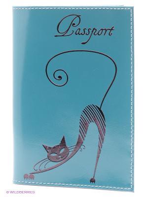 Обложка для паспорта BEFLER. Цвет: бирюзовый