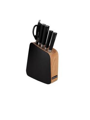 Нож кухонный Rondell RD-484. Цвет: коричневый, черный