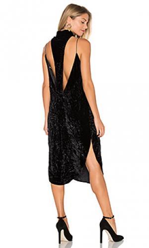 Бархатное платье stanley AGAIN. Цвет: черный