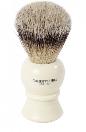 Кисть для бритья Ворс серебристого барсука/Слоновая кость с серебром Regency Truefitt&Hill. Цвет: бесцветный