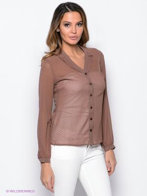 Блузка PROFITO AVANTAGE. Цвет: коричневый