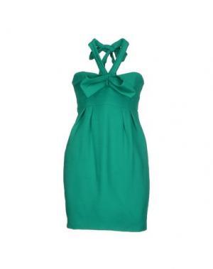 Короткое платье LIST. Цвет: зеленый