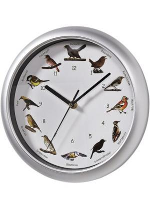 Часы с имитацией птичьих голосов (различные расцветки + серебристый) bonprix. Цвет: различные расцветки + серебристый