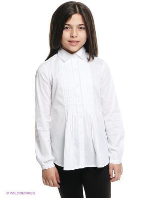 Блузка Gulliver. Цвет: белый