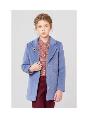Укороченное пальто MORU. Цвет: лиловый