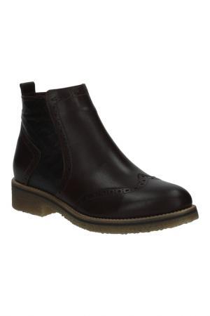 Ботинки BENTA. Цвет: коричневый темный,комби