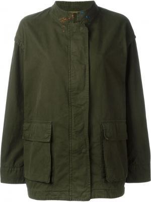 Куртка с принтом граффити Bazar Deluxe. Цвет: зелёный